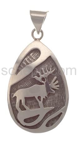 Anhänger Indianerschmuck, Hirsch (Hopi-Style)