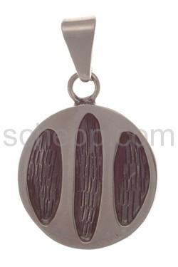 Anhänger Indianerschmuck, abstraktes Ornament (Hopi-Style), rund