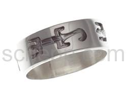 Ring mit Eidechsen-Motiv (Hopi-Style)