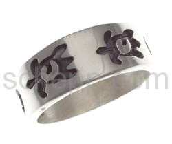 Ring with turtle motif  (Hopi style)