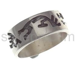 Ring Kokopelli (Hopi-Style)