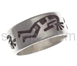 Ring Kokopelli (Hopi style)