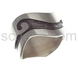 Ring mit Wellenmotiv (Hopi-Style), breit