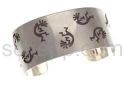 Armspange Kokopellis (Hopi-Style), breit
