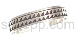 Armspange, abstraktes Wellenmuster (Hopi-Style)