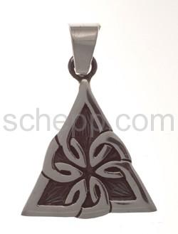 Anhänger keltisch, Knotenmuster, dreieckig