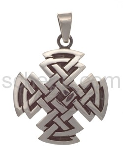 Anhänger keltisch, Knotenmuster, quadratisch