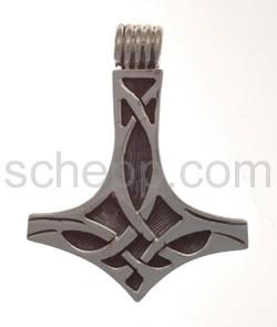 Anhänger keltisch, Thorshammer mit Knotenmuster