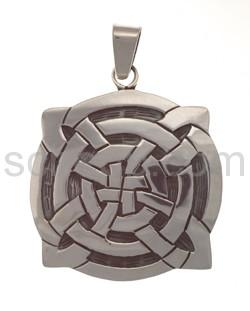 Anhänger keltisch, Knotenmuster, rund