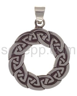 Anhänger keltisch, mit Knotenmuster, rund