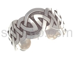 Bangle with Celtic knot design, wide