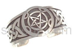 Bangle with Celtic knot design and pentagram