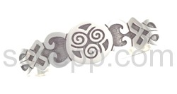 Armspange mit keltischem Motiv und Knotenmuster