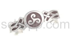 Armspange mit keltischem Motiv, Triskele