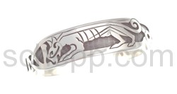 Armspange, keltischer Hund, Knotenmuster