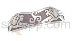 Armspange, keltische Löwen und Triskele