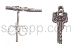 Ohrstecker Schlüssel