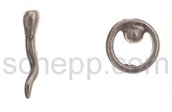 Ohrstecker Spermium/Eizelle
