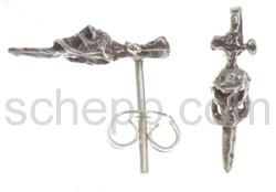 Ohrstecker, Schwert mit Totenschädel