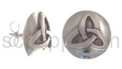 Ohrstecker, keltische Knoten, rund