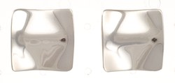 Ohrstecker, gewölbtes Quadrat