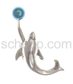 Navelshield Delfin, mit günem Banana