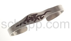 Tattoo-Armspange, Tribal Design, schmal