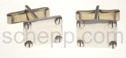 Manschettenknöpfe mit Silberschrauben, rechteckig