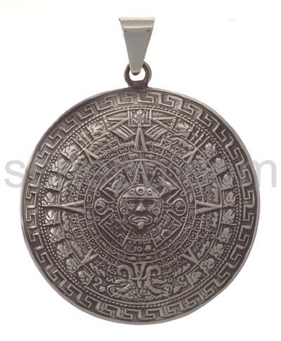 Aztekenkalender Anhänger Silber