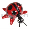 Nodding animal ladybird, hand-painted