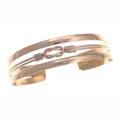 Armspange, Kupferstreifen mit Knoten