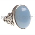 Ring, chalcedony, oval