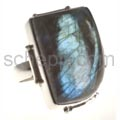 Ring with labradorite