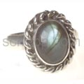 Ring mit Labradorit, oval