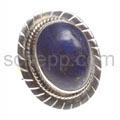 Ring mit Lapislazuli, oval
