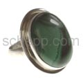 Ring mit großem Malachit, oval