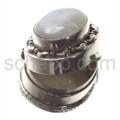 Pillendose mit Mondstein, klein (1,9 cm hoch)