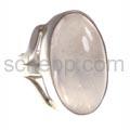 Ring mit großem Rosenquarz, oval