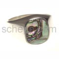 Seal ring with mother-of-pearl, rectangular