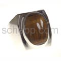 Ring mit Tigerauge, oval