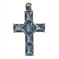Anhänger, Kreuz mit roten Zirkonia