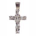 Pendant, cross with white Zirconia