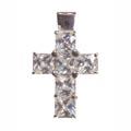 Anhänger, Kreuz mit weißem Zirkonia