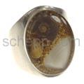 Ring mit echten Muscheln in Kunstharz, oval