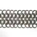 Link bracelet made of interlocking eyelets