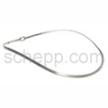 Halsspange, 3 mm, oval