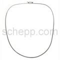 Halsspange, 2 mm, oval