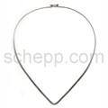 Halsspange, 3 mm, tropfenförmig