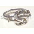 Ring aus Silberdraht mit Knoten