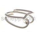 Ring aus Silberdraht, verschlungen